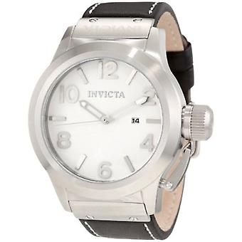 Invicta Men's 1134 Corduba White Dial Black Leather Watch