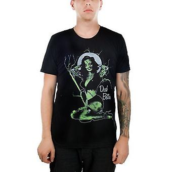 Too Fast Mens Dead Bettie Page Tshirt Zombie Pin Up Black Tree Moon