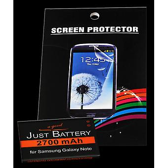 Battery + 4 x film for Samsung GT-n7000 i9220 Galaxy note