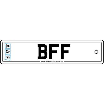 AAF - Best Friends Forever License Plate Car Air Freshener