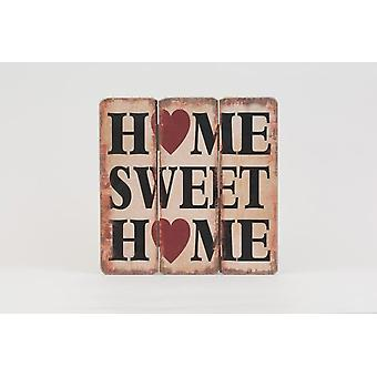 Wooden Distressed Look Home Sweet Home Slogan Wall Hanging Sign Board Decoration Item