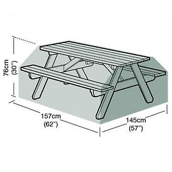 6 Seater Picnic Table Cover Garden Furniture Polyethylene Green