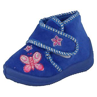 Infant Girls Spot On Bootee Slipper with Butterfly X2030