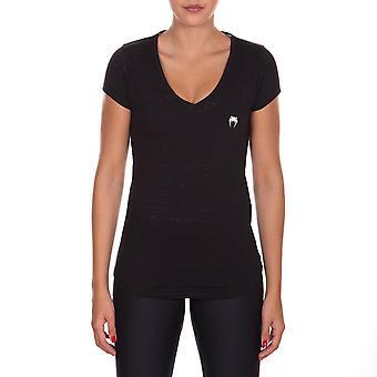 Venum vrouwen essentieel V-Neck atletische T-Shirt-zwart