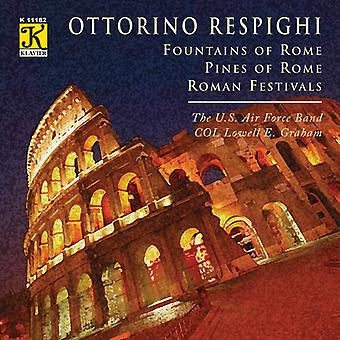 O. Respighi - Respighi: Springvand i Rom; Fyrretræer i Rom; Romerske festivaler [CD] USA importerer