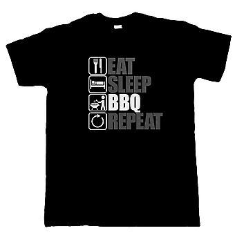 Vectorbomb, comer dormir barbacoa repetición, hombre divertido parrilla camiseta (S a 5XL)