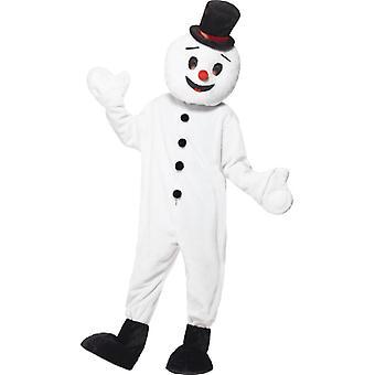 Snowman costume huge plush mascot snowman Christmas