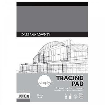 Daler Rowney simplement 40lb/60gsm Tracing Pad A3