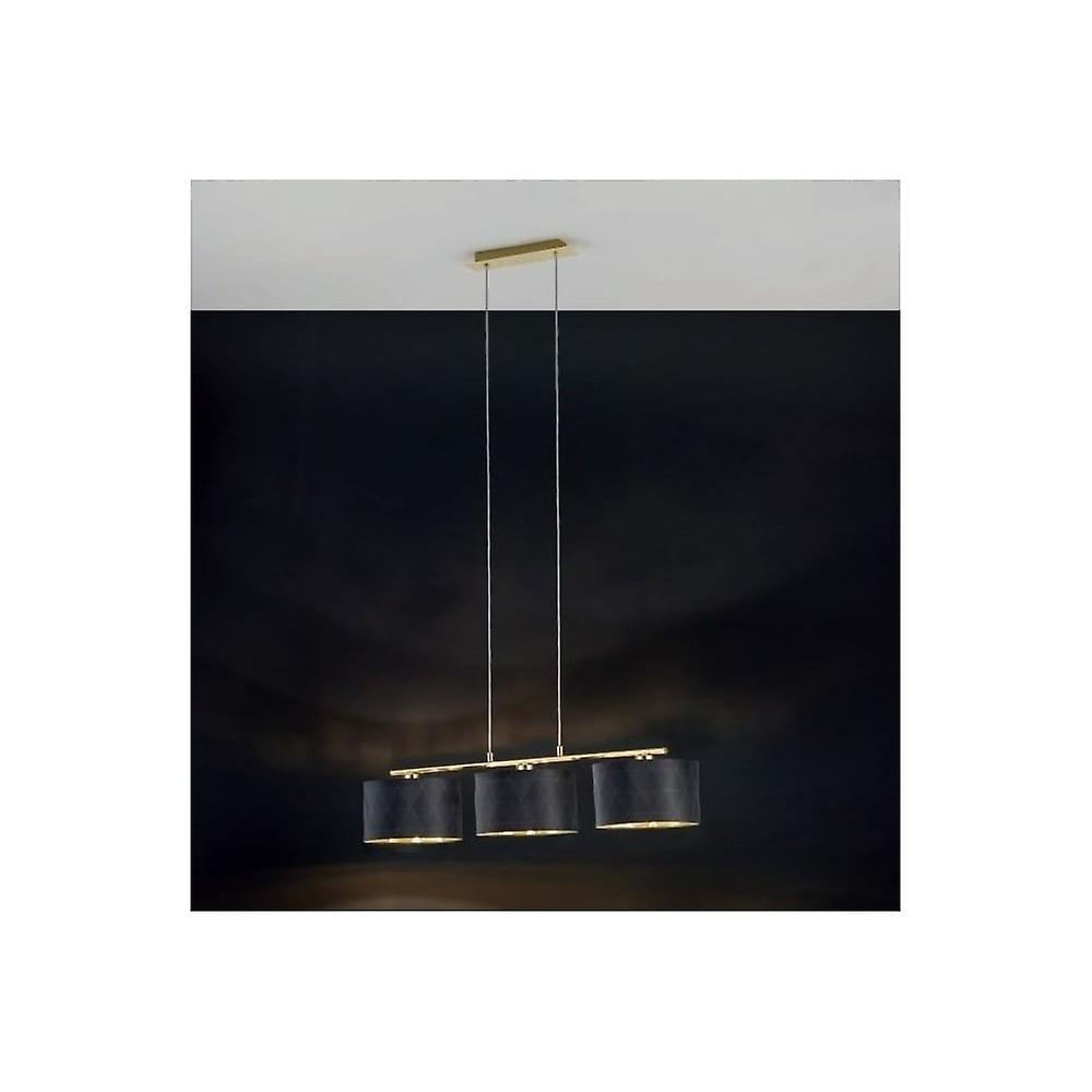 Eglo DOLORITA Dark Drum Ceiling 3 lumière pendentif