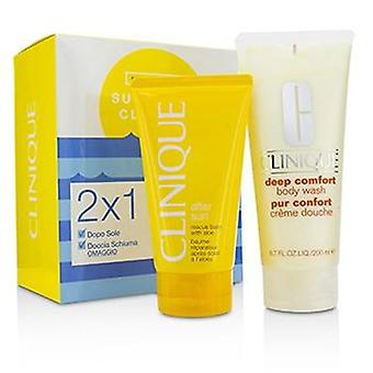 Clinique Summer In Clinique Set: Deep Comfort Body Wash 200ml/6.7oz + After Sun Rescue Balm 150ml/5oz - 2pcs