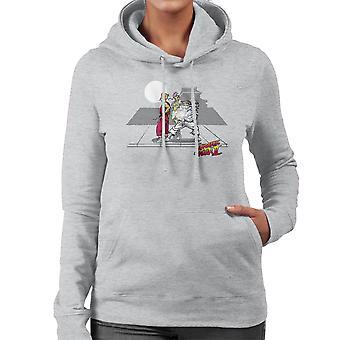 Cryogenic Fighter II Futurama Street Fighter Women's Hooded Sweatshirt