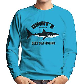Quints Deep Sea Fishing Jaws Men's Sweatshirt