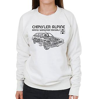 Haynes Workshop manuell 0337 Chrysler Alpine svarte kvinner Sweatshirt
