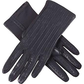 Dents Olivia Half Silk Lined Hairsheep Leather and Elastane Gloves - Navy