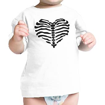 Heart Skeleton Shirt Halloween Outfit Baby Shirt Graphic Infant Tee