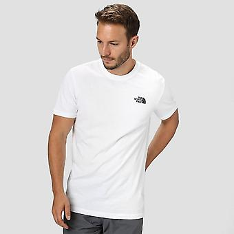 North Face Raglan röd ruta herrarnas T-Shirt