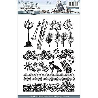 Find It Trading Amy Design Clear Stamp 24/Pkg-Wintertide CS10011