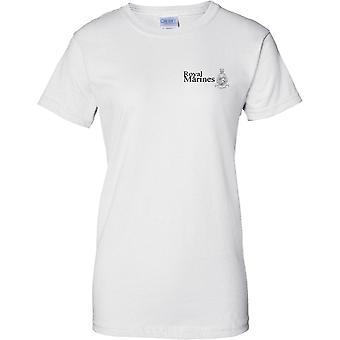 Licensed MOD - Royal Marines Globe And Laurel - Elite Commando Unit - Ladies Chest Design T-Shirt