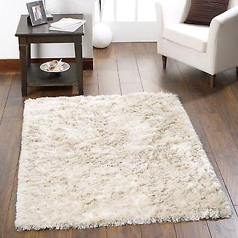 Shimmer Shaggy Rugs In Champagne