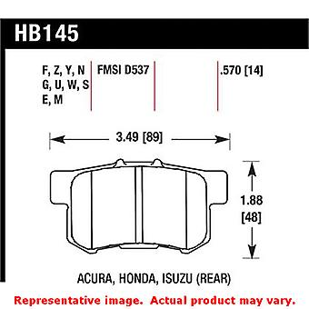 Hawk 'Club Racing' Brake Pads HB145E.570 Fits:ACURA 1997 - 1997 CL L4 2.2 Posit