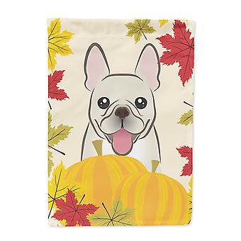 Französische Bulldogge Thanksgiving Flagge Leinwandgröße Haus