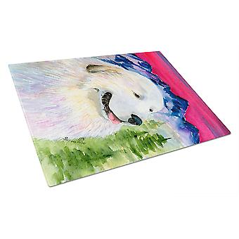 Carolines Treasures  SS8473LCB Great Pyrenees Glass Cutting Board Large