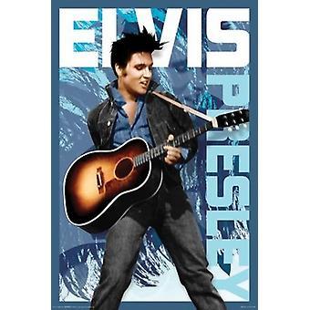Elvis Presley - blå affisch affisch Skriv