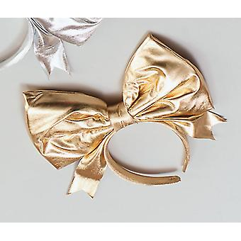 Bow on Headband -Gold