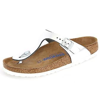 Birkenstock Gizeh WB Metallic Silver Leder 1003674 universal summer women shoes