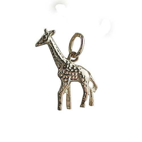 9ct Gold 20x13mm Giraffe Pendant or Charm