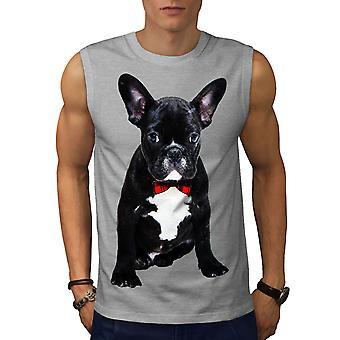 Lust auf französische Bulldogge Männer GreySleeveless T-shirt | Wellcoda