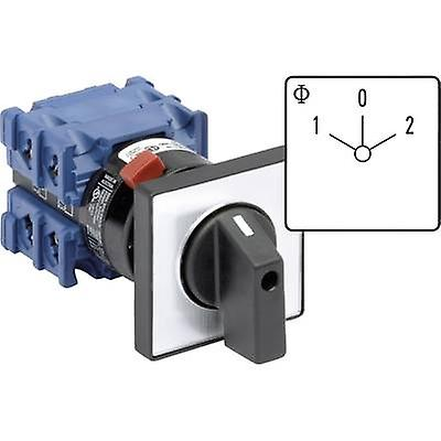 Changeover switch 20 A 2 x 60 ° Grey, Black