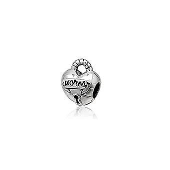 Charms Beads 925 Silver heart padlock
