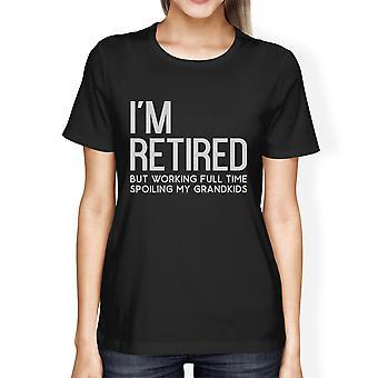 Ses petits-enfants Womens Black Filial comique Tee T-Shirt meilleur cadeau à la retraite