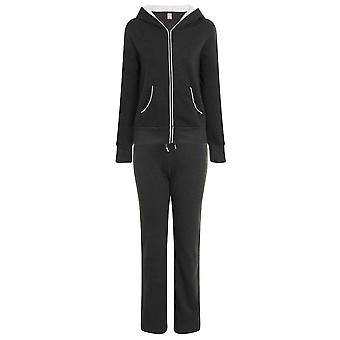 Riva USA, Ladies Sports Jogging Set, Charcoal and White, S