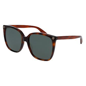 Gucci Havana Square Sunglasses GG0022S-002