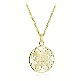 Orphelia Silver 925 Chain With Pendant Small Circle Goldplated  ZH-6036/2