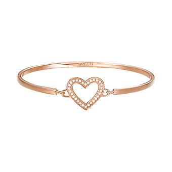 Esprit Damen Armband Armreif JW50225 Edelstahl Rosé Herz ESBA01299C600