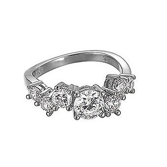 ESPRIT women's ring silver of zirconia criss cross ESRG91728A1