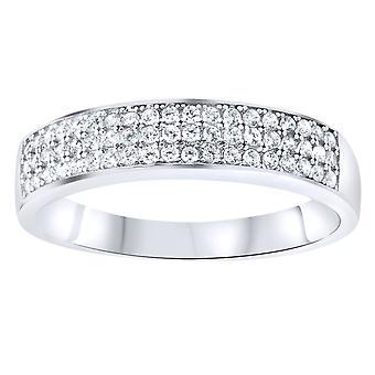 925 sølv pave ring - tre linjer bane