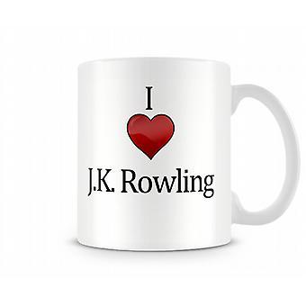 JK Rowling imprimé J'aime la tasse