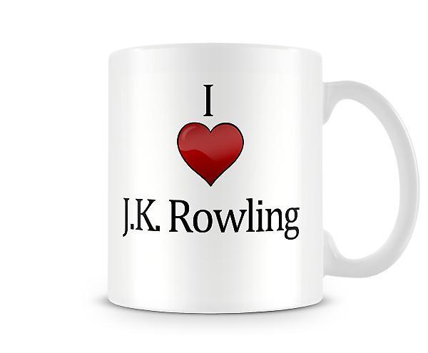 Jag älskar JK Rowling tryckta mugg