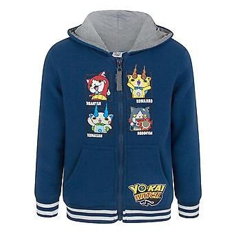 Yo-Kai Watch Childrens Boys Characters Navy Zip Up Hoodie