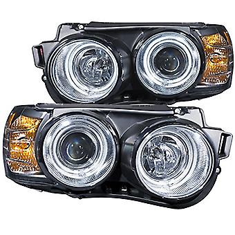 AnzoUSA 121489 Chrome/Clear/Amber Halogen Projector Headlight for Chevrolet Sonic