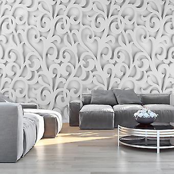 Wallpaper - ornamento blanco