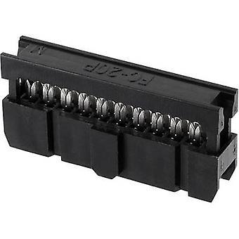 ECON connecter espacement des broches Connecteur Contact: 2,54 mm nombre de broches: 40 no de lignes: 2 1 PC (s) plateau