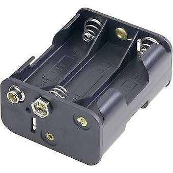 Goobay 12469 Battery tray 6x AA Stud and socket (L x W x H) 58 x 28 x 47 mm