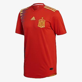 2018-2019 Spanien authentisch authentisch nach Hause Adidas Fußballtrikot