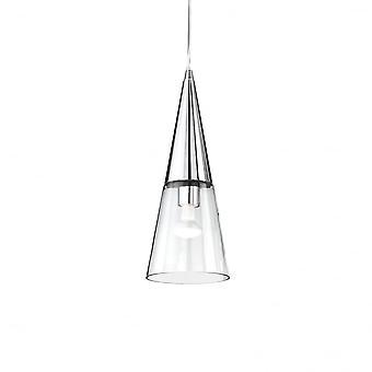 Ideal Lux Cono Single Pendant Light Chrome