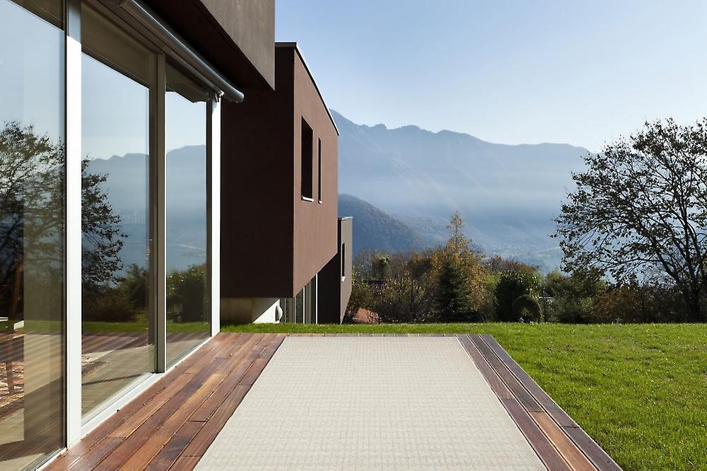 outdoor teppich f r terrasse balkon hell beige skandi look stuoia ecru 155 230 cm teppich. Black Bedroom Furniture Sets. Home Design Ideas